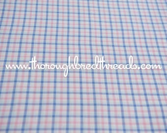 Pink and Purple Plaid - Vintage Fabric Multi-Colored Checked Classic Preppy