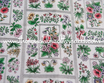 Wildflower Floral - Novelty Vintage Fabric New Old Stock Seed Packs