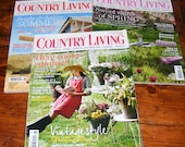 Country Living UK British edition April June 2013 and August 2011 Magazine Lot