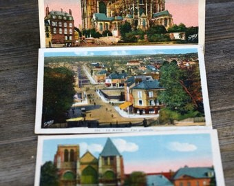 French Travel Postcards Le Mans