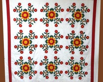 Rose of sharon quilt | Etsy : rose of sharon quilt - Adamdwight.com
