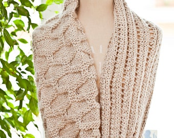 Knitting Pattern (pdf file) Instant Download - Knit Infinity Cowl