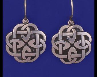 CELTIC KNOT WORK- Earrings- Sterling Silver