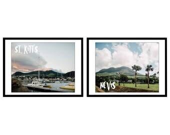 St. Kitt's & Nevis - Set of 2 Digital Prints
