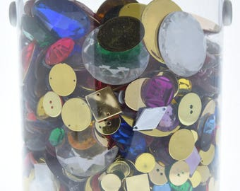Quart,  almost of Acrylic beads, various sizes color and shapes  , QB2017-1
