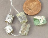 BARGAIN 2 pair matched plus 1 ancient Roman glass beads almost 3 grams