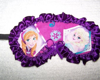 Sleep Mask Frozen Elsa Anna Sleeping Mask Day Sleeper Girls Teens Sisters Spa Hospital Travel Frozen BirthdayParty Gift BFF Sisters Bride
