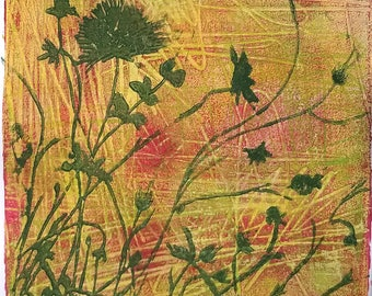 Monoprint No.6, botanical original art