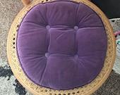 Vintage Pillow | Royal Purple Velvet Accent Pillow