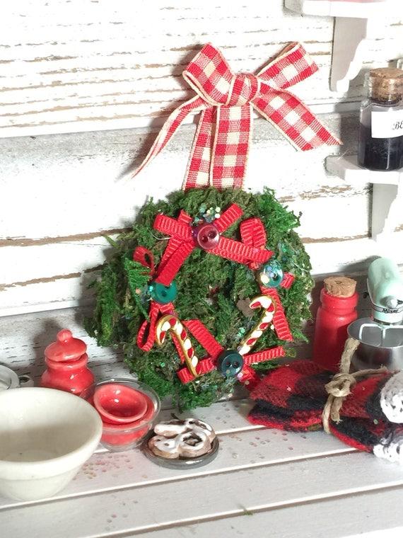 Miniature Christmas Wreath Traditional Colors