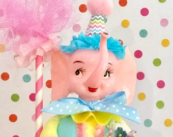 Pink Elephant Party Decoration/Centerpiece/Cake Topper/Baby Shower/1st Birthday