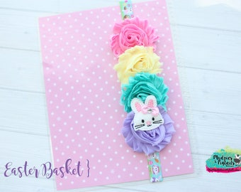 Planner bands { Easter Basket } bunny, rabbit, rainbow pastel, pink, spring band planner girl accessories bible band, baby headband