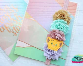 Planner band { Simba } the lion king, glitter, pastel, spring band planner girl accessories bible band, baby headband