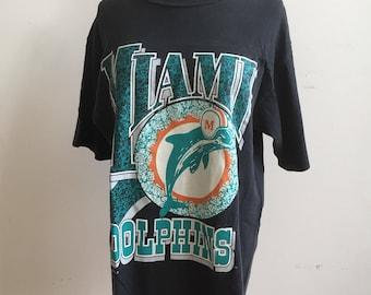 Vintage Miami Dolphins Tshirt / 1990s Tee / 90s NFL / Football Tshirt / Miami Tee / Football