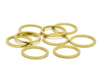Brass Connector Rings - 50 Raw Brass Connector Rings (12mm) B0119