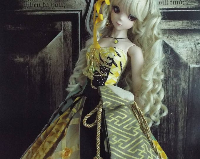 Black and Gold Gown for Smart Doll and Dollfie Dream
