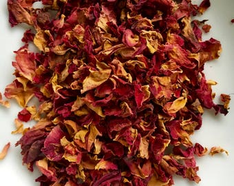 Red Roses, Rosa Centifolia, Certified Organic, Organic Rose Petals, Red Rose Petals