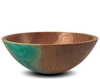 Blue Carnival - Elm Bowl (reserved for Tatiana Nomasana)