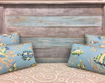 King headboard Gray Blue bedroom furniture coastal living Beach Farmhouse Cottage local PICKUP ONLY Outer Banks NC Beach House Dreams obx