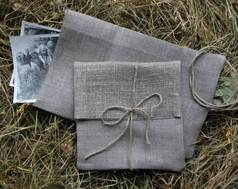 """CD/DVD/Print/Photo/Picture/Card natural linen packaging envelope bags.5""""x5 1/2"""".Favor bags.Eco Wedding .Baby/Bridal shower. Christening."""