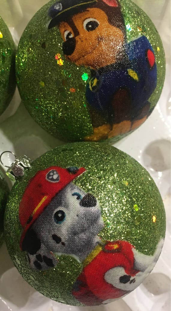 Paw Patrol inspired Christmas ornaments