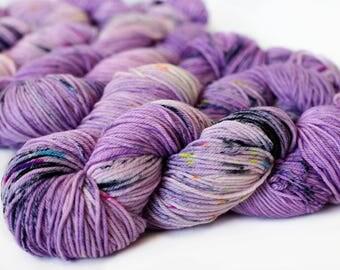 Cupcake 246 yards/ Posh DK Yarn/ superwash merino 4 ply speckle dyed