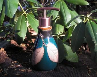 Elm Leaf Soap Dispenser Bottle