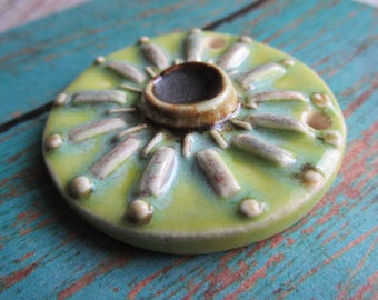 Lime Pendant, Art Bead, Handcrafted Pendant, ClassicBead, Classic Bead, tracee