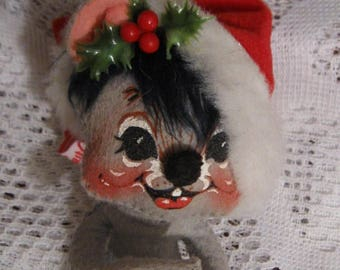 """Annalee Christmas Mouse - 6 1/2"""""""