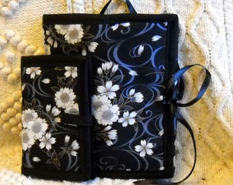 Floating Blossoms Sewing Caddy, Needle Case, Hand Sewing Organizers