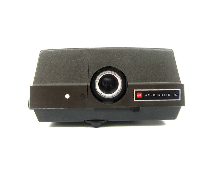 vintage Anscomatic GAF 660 Slide Projector Retro Photography Photo Picture Party