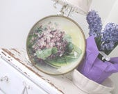 Vintage Advertising * Wall Hanging * Antique * Violets * Shabby Chic * Cottage * Farmhouse