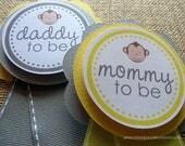 Custom listing for Jean A - Custom designed monkey baby shower pin