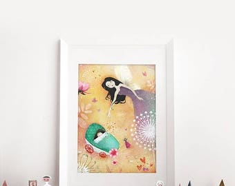 10% Off - Summer SALE The Fairy Godmother 12/50 - Deluxe Edition Print