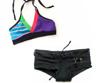 Candy Crush Gym/Swim Halter Sports Bra