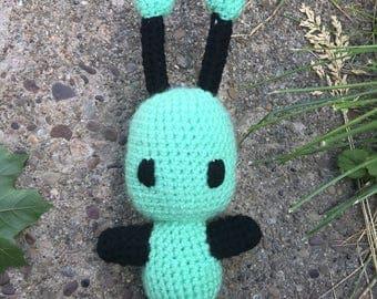 Amigurumi stuffed alien Tohi toy