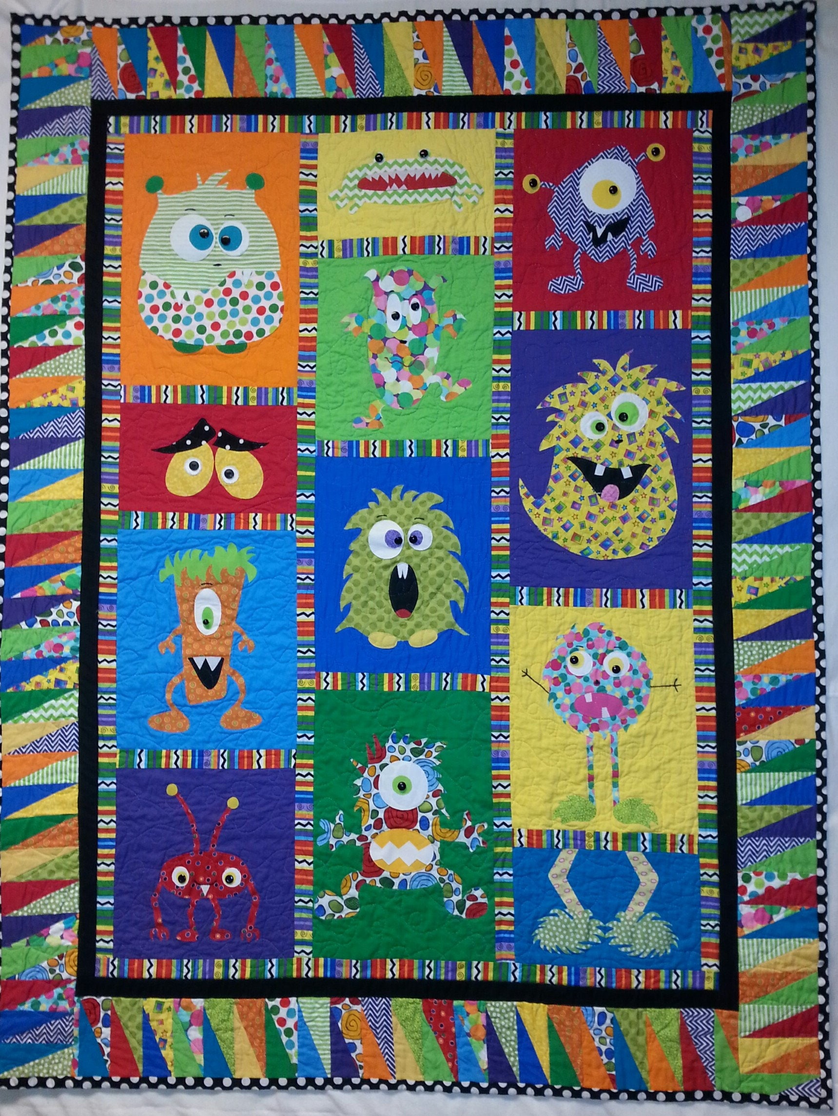 Mini Monster Quilt Pattern