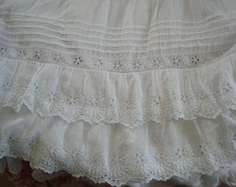 Antique waist petticoat from early 20th century France