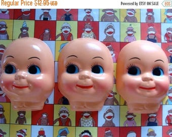 ONSALE Large Kitsch and Creepy Vintage Doll Faces