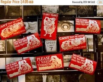 ONSALE 8 Very Very Old and  Nostalgic Antique Gummed Labels