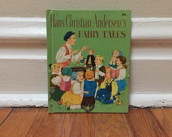 Hans Christian Andersen's Fairy Tales 1979 Vintage Book Green Hardcover Children's Library