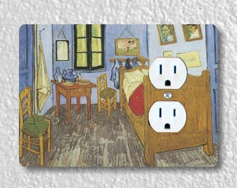 The Bedroom Van Gogh Painting Duplex Outlet Plate Cover