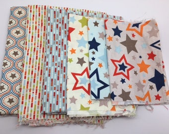 SUMMER Sale - One for the Boys - Remnant Bundle #63 - Zoe Pearn - Riley Blake Designsm - 2 1/2 yards