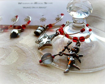 Parisian Nights - LIMITED Set - Wine Charms