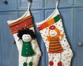 Custom order of two Christmas stockings