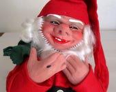 VINTAGE Signed Arne Hasle Norway Norge Christmas Latex Elf Gnome Elf Doll Figure