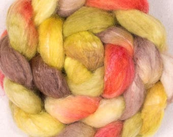 Hand dyed roving, Bamboo, Merino, Fibre, tops, hand dyed tops , felting materials, spinning wool, wool sliver, felting projects, hand spin,