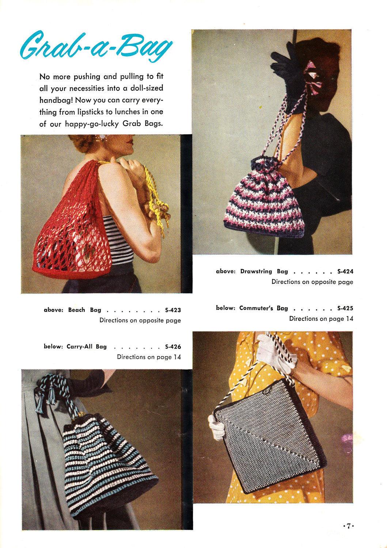 Bags free crochet patterns