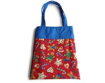 Gingerbread Men Gift Bag - Goodie Bag - Mini Tote
