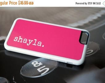 ON SALE Hot Pink Personalized Phone Case, iPhone 7 Case, Samsung Galaxy Case, iPhone 6 Silicone Case, Custom Phone Case